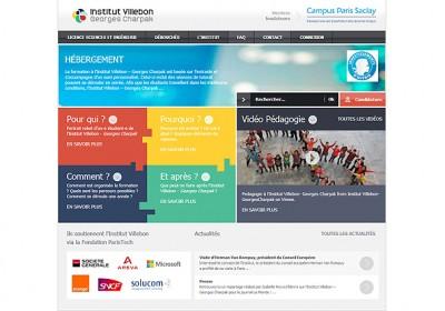 Interface de l'institut Villebon Georges Charpak