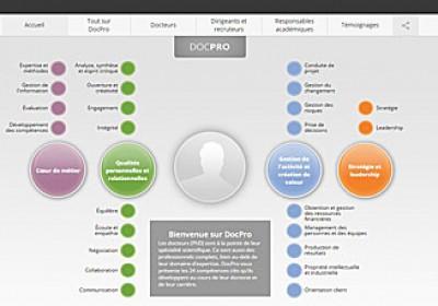 Infographie représentant les compétences des docteurs (PhD)