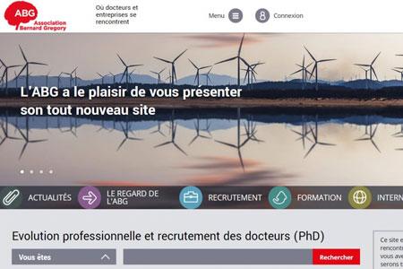 Capture d'écran du site web de l'Association Bernard Gregory